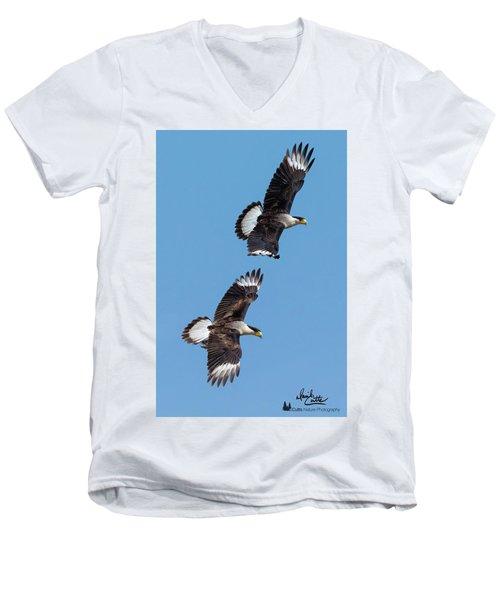 Flying Caracaras Men's V-Neck T-Shirt