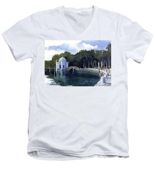 Folly At Viscaya Men's V-Neck T-Shirt