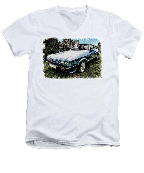 Ford Capri 3.8i Pencil V2 Men's V-Neck T-Shirt