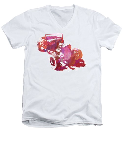 Ford Flathead Roadster Two Pop Men's V-Neck T-Shirt