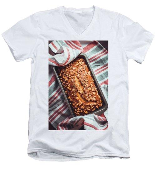 Freshly Baked Banana Bread Men's V-Neck T-Shirt