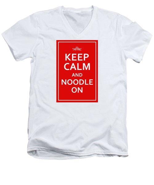Fsm - Keep Calm And Noodle On Men's V-Neck T-Shirt
