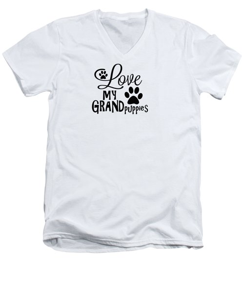 Fun Dog Gifts And Ideas Love My Grandpuppies Men's V-Neck T-Shirt