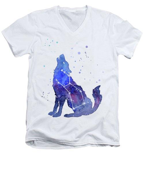 Galaxy Wolf - Lupus Constellation Men's V-Neck T-Shirt