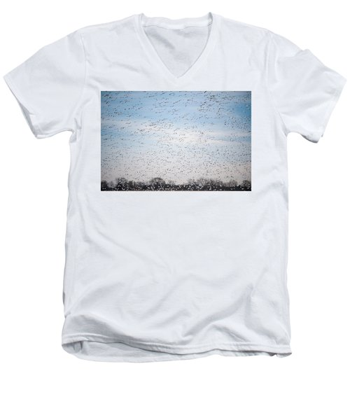 Geese In The Flyway Men's V-Neck T-Shirt