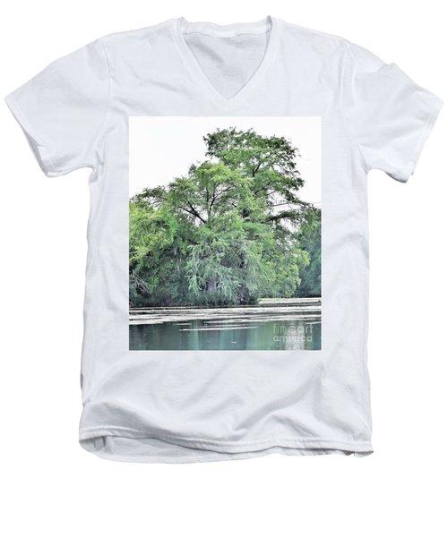 Giant River Tree Men's V-Neck T-Shirt