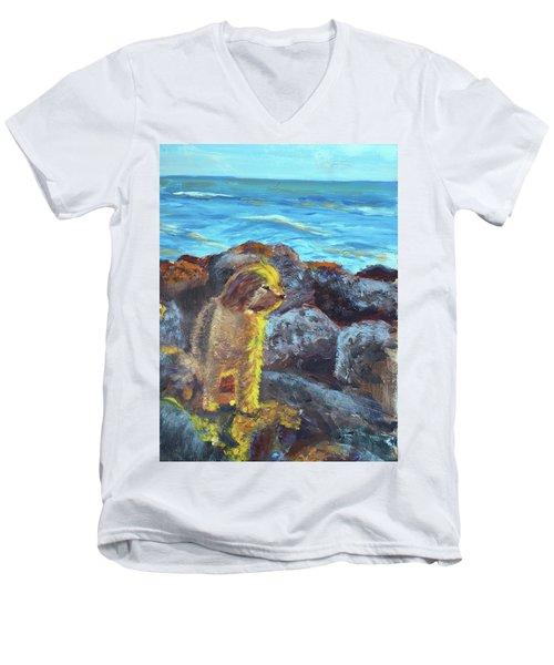 Golden Dog Men's V-Neck T-Shirt