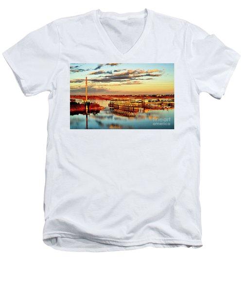 Golden Hour Bridge Men's V-Neck T-Shirt