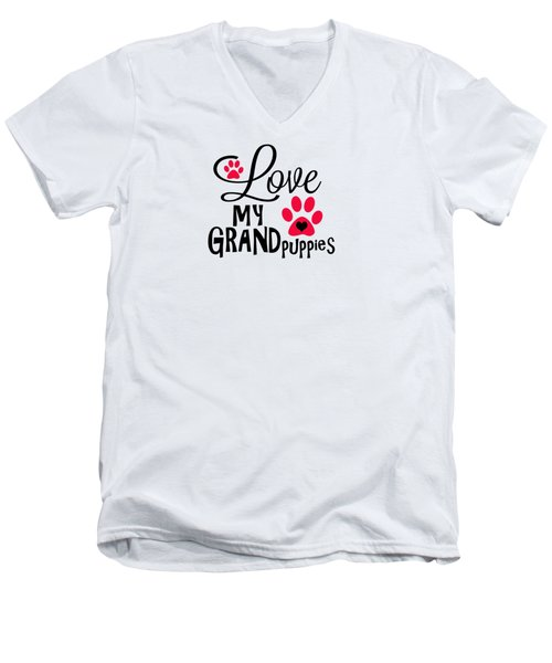 Great Dog Gifts And Ideas Love My Grandpuppies Men's V-Neck T-Shirt