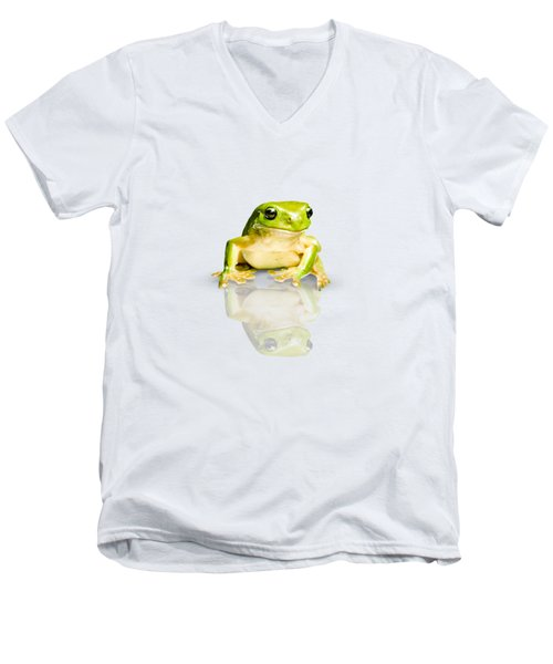 Green Tree Frog Men's V-Neck T-Shirt