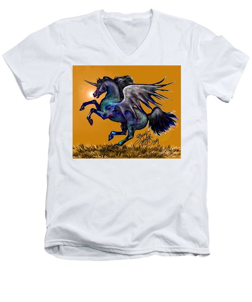 Halloween Fantasy Horse Men's V-Neck T-Shirt