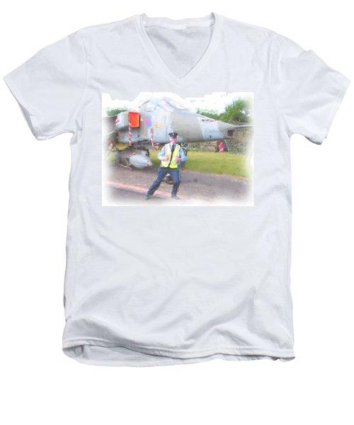 Happy Men's V-Neck T-Shirt