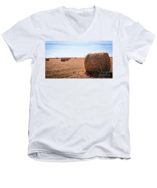 Hay Rolls Men's V-Neck T-Shirt