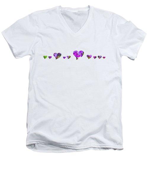 Hearts 1001 Men's V-Neck T-Shirt