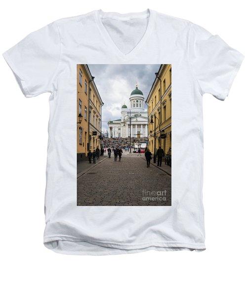 Helsinki Streets Men's V-Neck T-Shirt