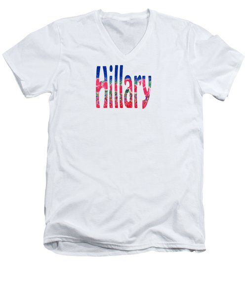 Hillary Men's V-Neck T-Shirt