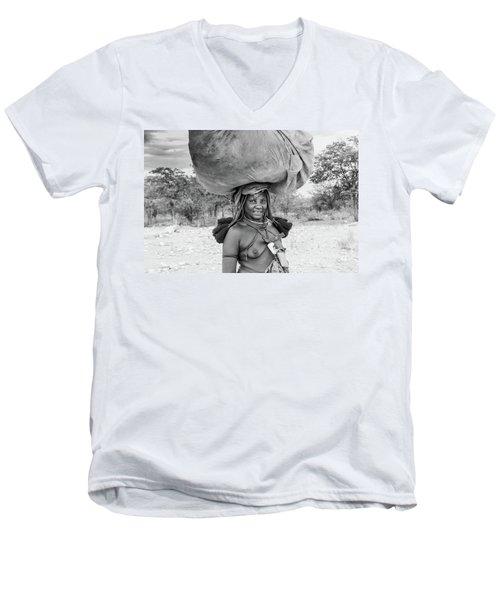 Himba Woman 2 Men's V-Neck T-Shirt