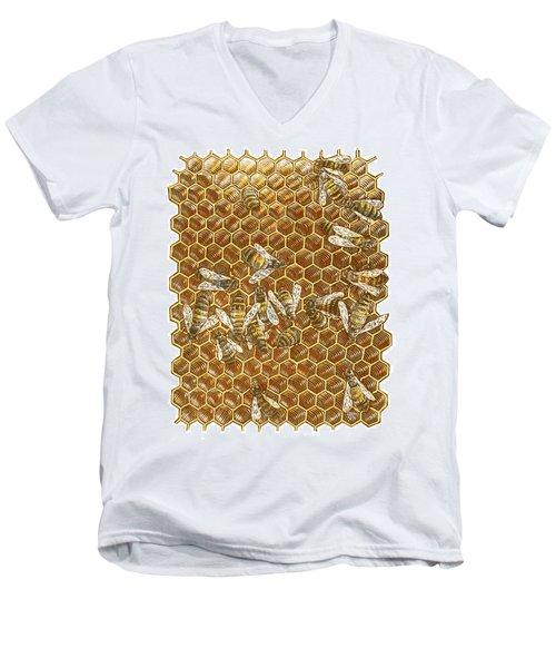 Honey Bees Men's V-Neck T-Shirt