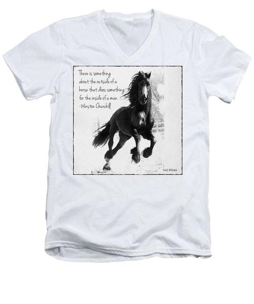 Horse's Profound Spirit  Men's V-Neck T-Shirt