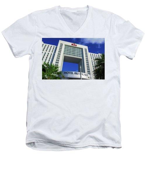 Hotel Riu Palace In Cancun Men's V-Neck T-Shirt