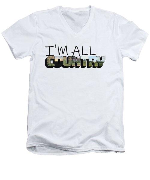 I'm All Country Big Letter Men's V-Neck T-Shirt