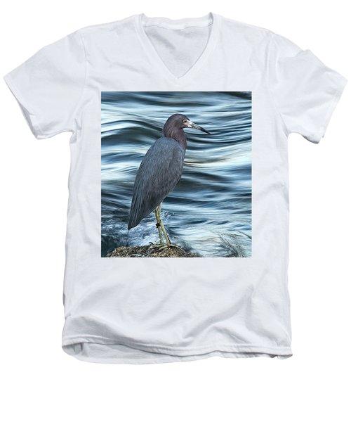 Inlet Heron Men's V-Neck T-Shirt