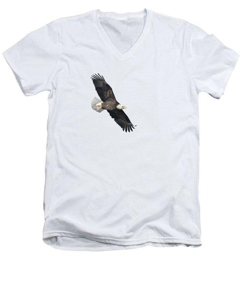Isolated Bald Eagle 2018-2 Men's V-Neck T-Shirt