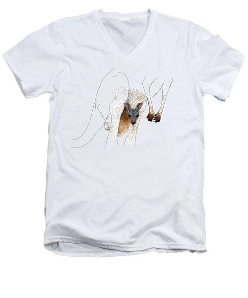 J Is For Joey Men's V-Neck T-Shirt