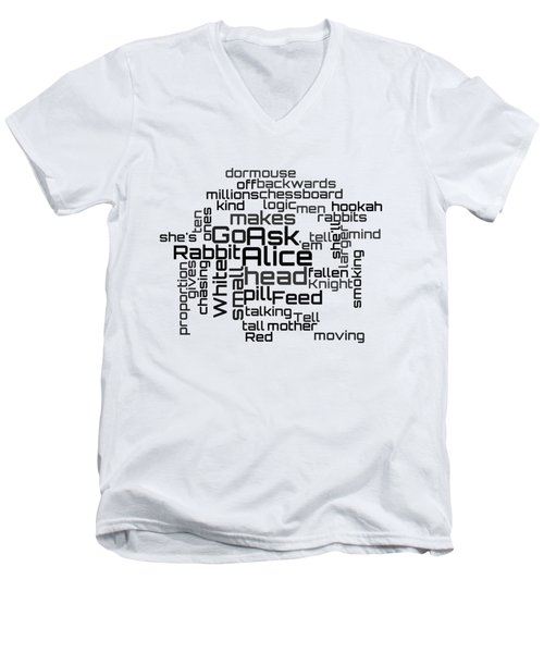 Jefferson Airplane - White Rabbit Lyrical Cloud Men's V-Neck T-Shirt