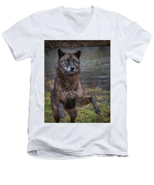 Jumping Boy Men's V-Neck T-Shirt