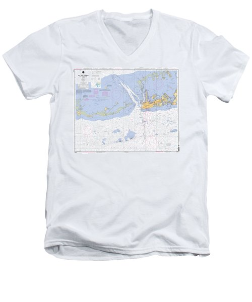 Key West Harbor And Approaches, Noaa Chart 11441 Men's V-Neck T-Shirt