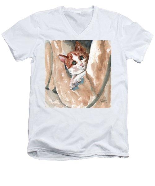 Kitten Men's V-Neck T-Shirt