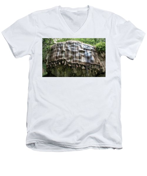 Knaresborough, Stone Waterfall Men's V-Neck T-Shirt