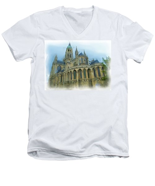 La Cathedrale De Bayeux Men's V-Neck T-Shirt