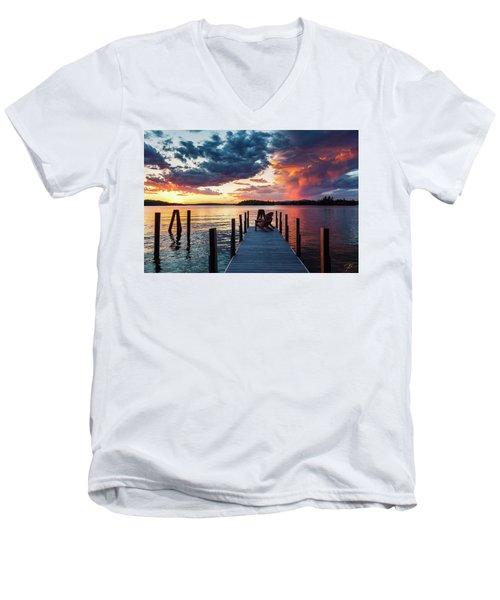 Late Summer Storm. Men's V-Neck T-Shirt