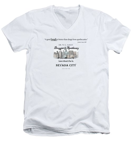Laughter Is The Best Medicine - Apothecary Men's V-Neck T-Shirt