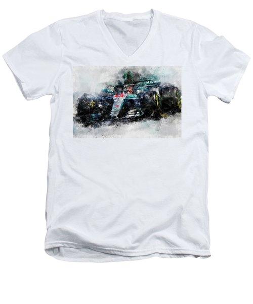 Lewis Hamilton, Mercedes Amg F1 W09 - 10 Men's V-Neck T-Shirt