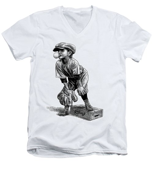 Little Leaguer Men's V-Neck T-Shirt