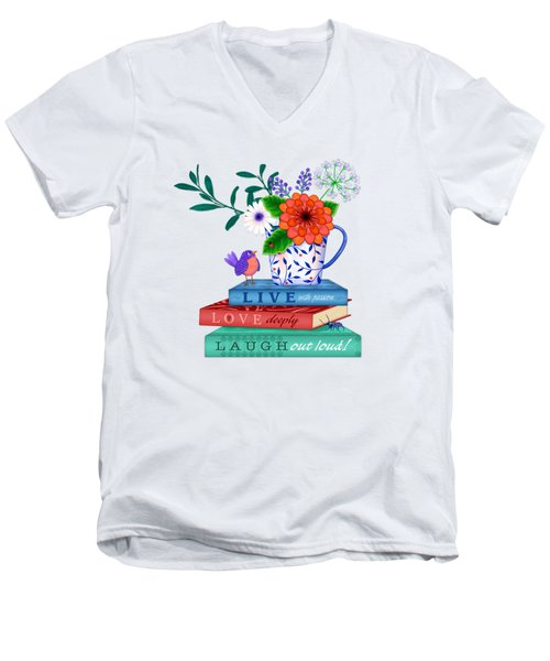 Live Laugh Love Men's V-Neck T-Shirt