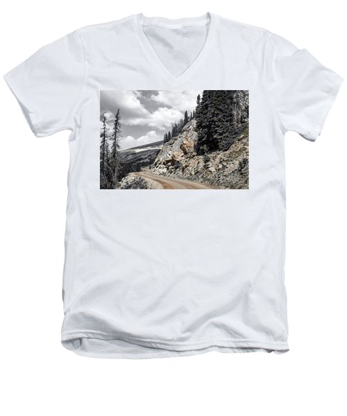 Living On The Edge Men's V-Neck T-Shirt