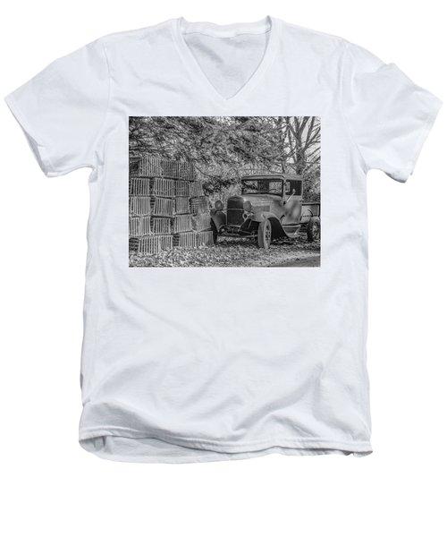 Lobster Pots And Truck Men's V-Neck T-Shirt