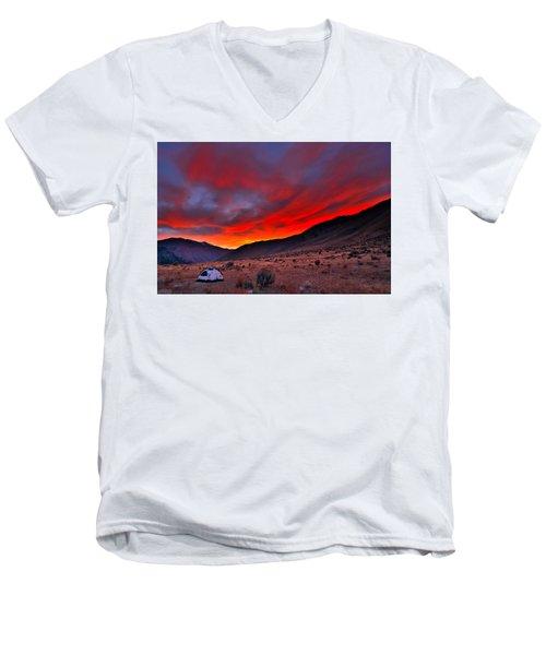 Lone Tent Men's V-Neck T-Shirt