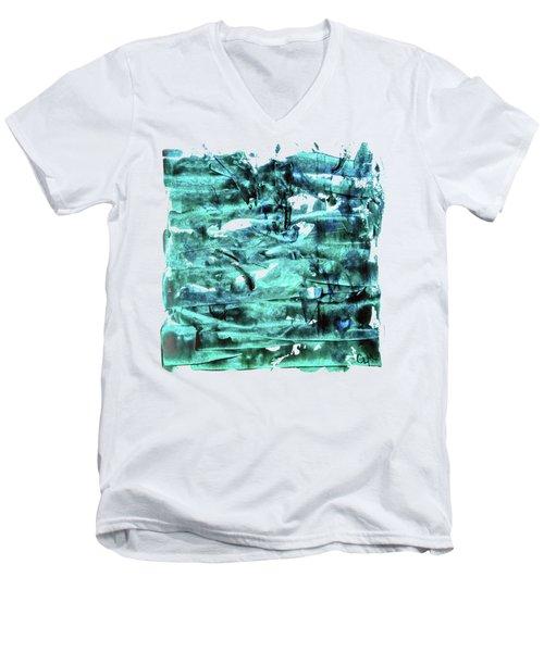 Look For The Blue Heart Men's V-Neck T-Shirt