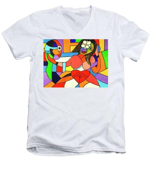 Love And Be Loved Men's V-Neck T-Shirt