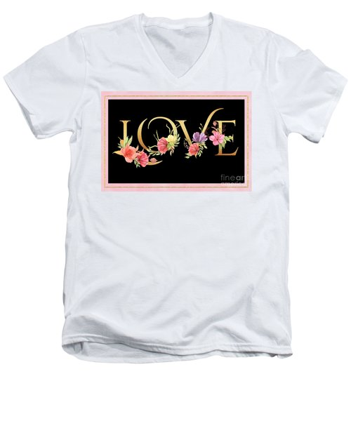 Love Men's V-Neck T-Shirt