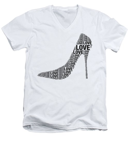Love In High Heels Men's V-Neck T-Shirt