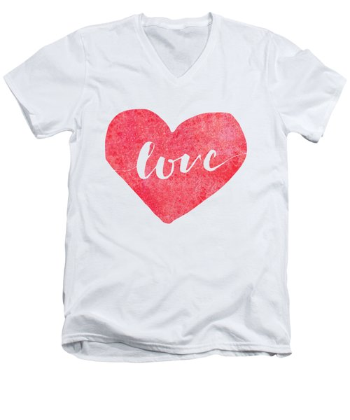 Love Is In The Air Men's V-Neck T-Shirt