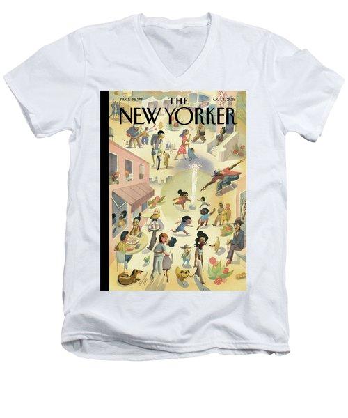 Lower East Side Men's V-Neck T-Shirt