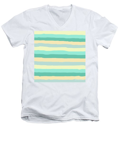 lumpy or bumpy lines abstract and summer colorful - QAB271 Men's V-Neck T-Shirt
