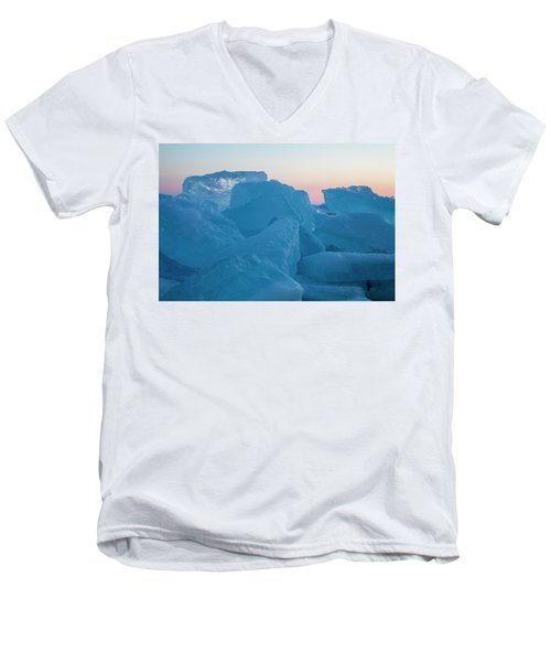 Mackinaw City Ice Formations 2161804 Men's V-Neck T-Shirt